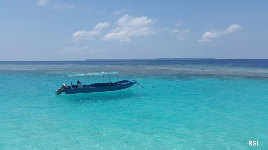 Beach of Maratua Island, East Kalimantan, Indonesia. Maratua Island Landscape