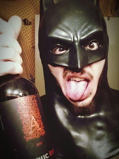 About to give the joker an ol Alabama whoop ass! Batman Darkknight Badman Tothebatcave Gotham Beard GnarlyBEARD Drinks Being Goofy