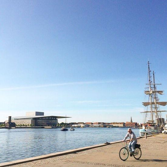 Denmark Copenhagen, Denmark Copenhagen Harbor Harbour Operahouse Bike Ride