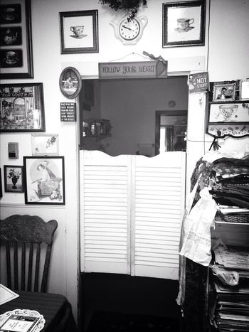 Having Fun Tea Cute Blackandwhite Simple Old Door