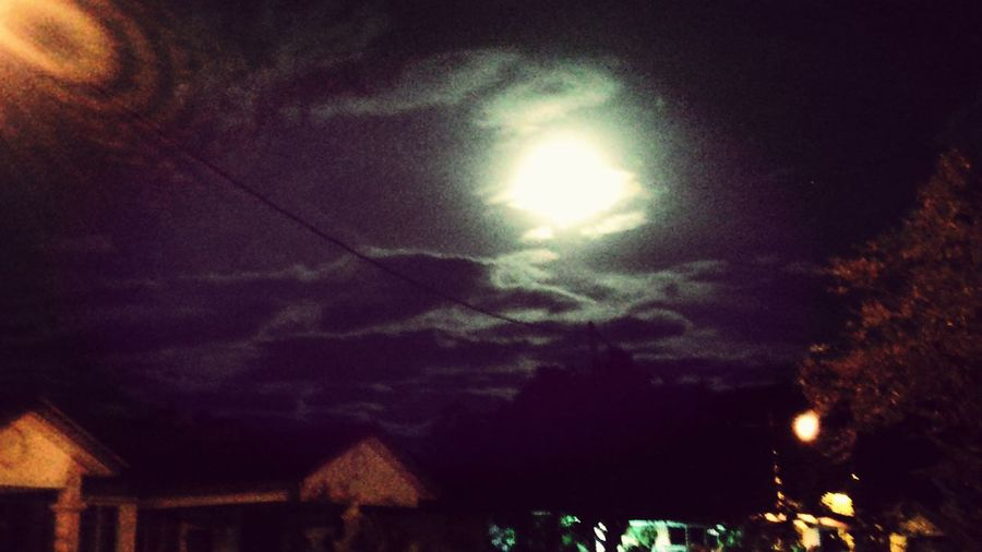 Last night view. Malaysia. Nature Moonlight Clouds And Sky