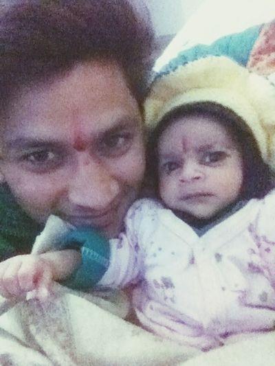 Good Morning Father & Son My Baby Boy Sanju With Chotu Sanju
