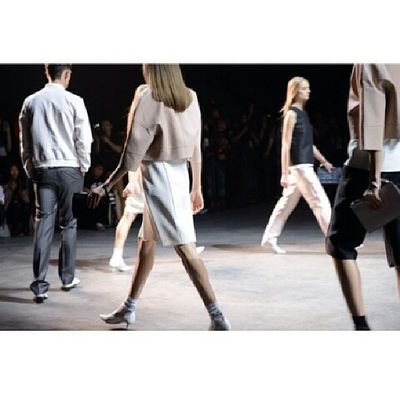 awesome walk! fashion walk of @calvinklein a few weeks ago! gorgeous! follow me for more pics