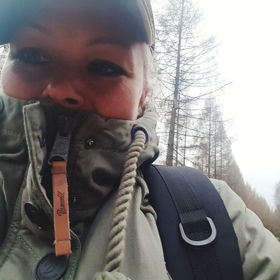 #itsme #itsme Outdoor Wandern Lüneburgerheide #bushcraft Winter One Person Front View Looking At Camera Cold Temperature Portrait People