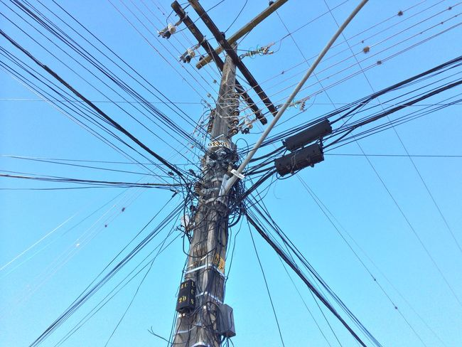 Cable Connection Day Engineering Mast Outdoors Perspective Rope