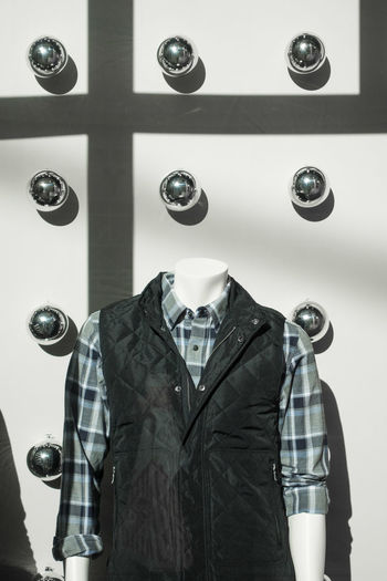Graphic Blue Close-up Day Display Fashion Indoors  Manikin No People Repetition Silver  Vest