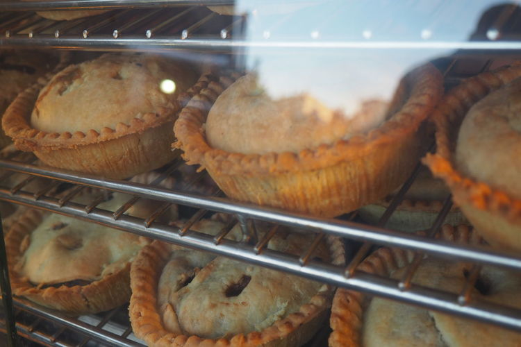 Apple Pie Baked Bakery Choice Close-up Food For Sale In The Window Pies Ready-to-eat Sweet Food Holiday Desserts