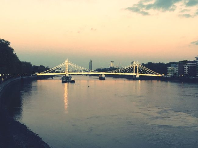 I Love My City London Albertbridge Sunset Water Riverthames
