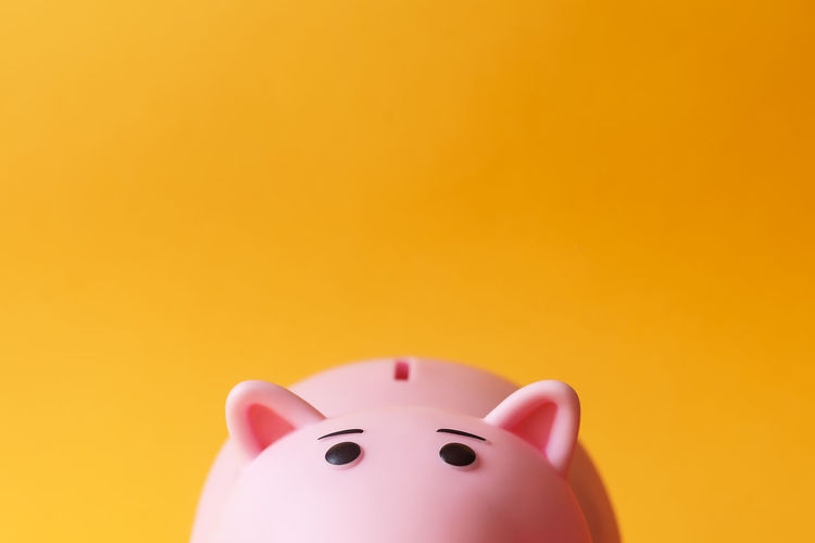 pink toy piggy money box on yellow backgroung with copy space Piggy Bank Savings Copy Space Investment Studio Shot Finance Indoors  Business Currency Colored Background Coin Bank Home Finances Wealth Pink Color Close-up No People Yellow Single Object Yellow Background Representation Making Money Economy Business Piggy Bank Piggybank
