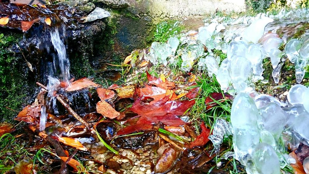 Nature Water No People Nature Outdoors Tranquility Fotography Fotografia Outdoor Photography Inverno❄❄❄ My Smartphone Life Life Day Life Is Good Cascatelle Ghiaccio Acqua Water_collection