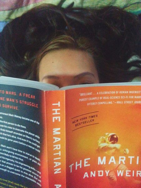 Reading this very funny book! Themartian Andyweir Readingtime