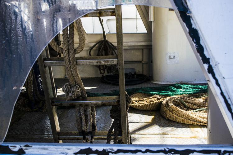 Broken Window Of Fishing Boat
