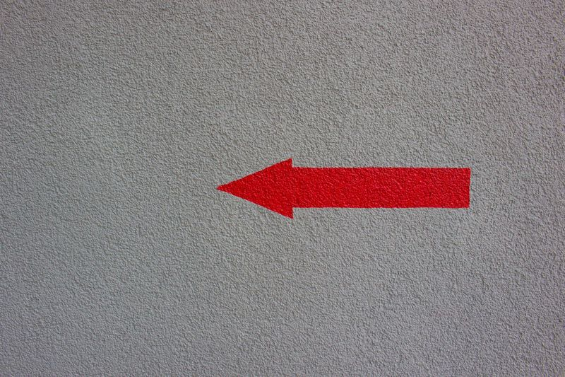Red Textured  Gray Built Structure Rough No People Building Exterior Outdoors Close-up Day Arrow Directions