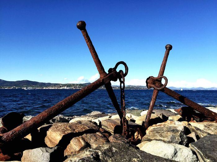 Encres sur la digue du port de saint Tropez