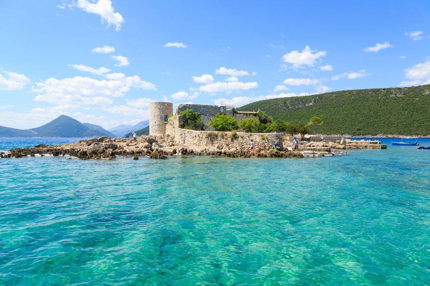Island at the entrance of the Bay of Kotor, Montenegro Adriatic Sea Bay Of Kotor Beautiful Boka Kotorska Clear Water Europe Holiday Island Kotor Bay Luxury Travel Montenegro Nature Sea Summer Travel Destinations Vacation