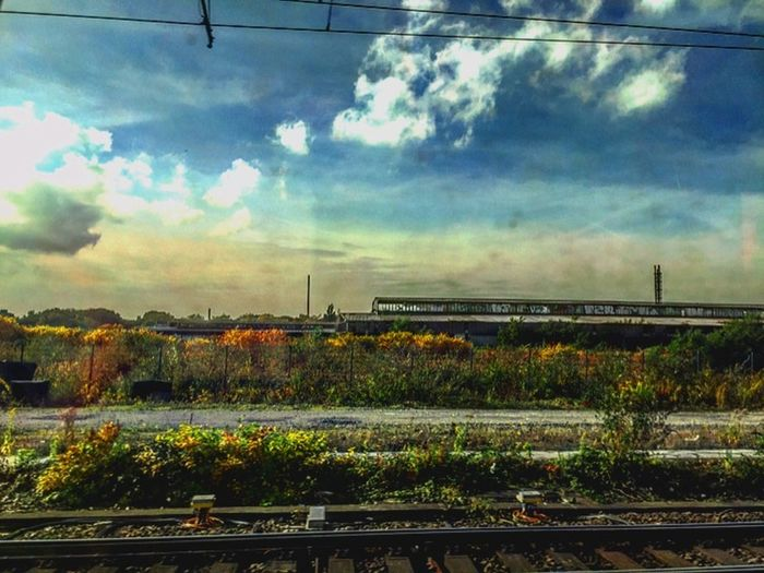 Niceview Trainway Taking Photos Nature Colourfulnature Vacation Time