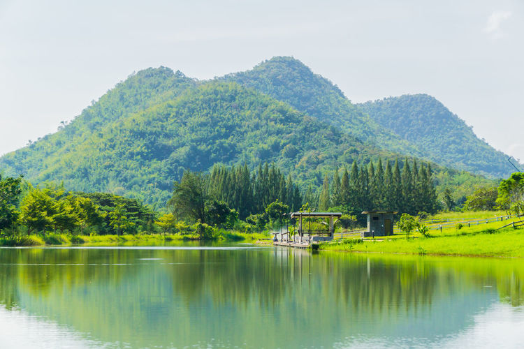 Tree Reflection Water Mountain Beauty In Nature Lake Outdoors Nature Scenics Green Color No People Day Sky Indoors  วิวสวย วิว ธรรมชาติ