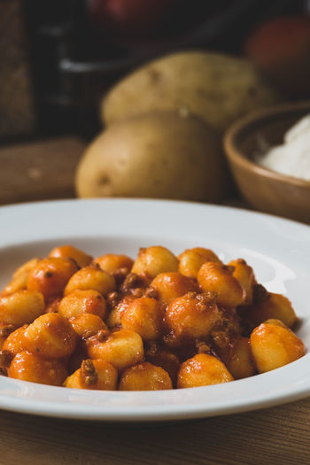 Food And Drink Gnocchi Gnocchi Di Patate Mediterranean Food Bowl Close-up Cooked Food Food And Drink Freshness Gnocchihomemade Healthy Eating Healthy Food Indoors  Italian Food Meal Meat No People Plate Ready-to-eat Serving Size Table