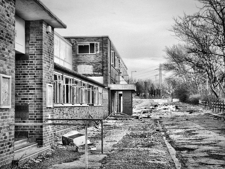 This place was flattened this week . Some great artwork has been lost forever with it😕 Abandoned Places Abandoned Factory Derelict Black & White Blackandwhite Blackandwhite Photography Abandoned & Derelict Lost Lost Art Demolished Hang Out