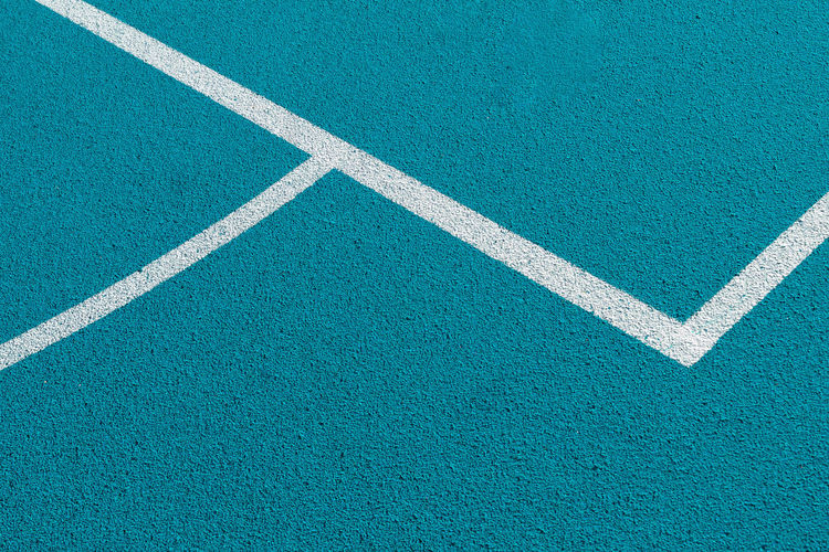 Sportfield No People High Angle View Day Full Frame White Color Backgrounds Sign Blue Road Pattern Sport Outdoors Textured  Rough Direction Symbol Close-up Transportation Court Turquoise Colored Dividing Line Lines Basketball Sportfield Nikon My Best Photo The Minimalist - 2019 EyeEm Awards