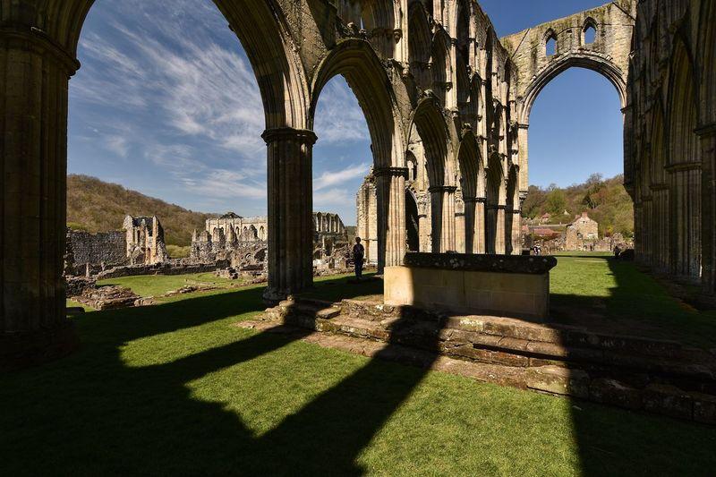 Historic ruins of rievaulx abbey