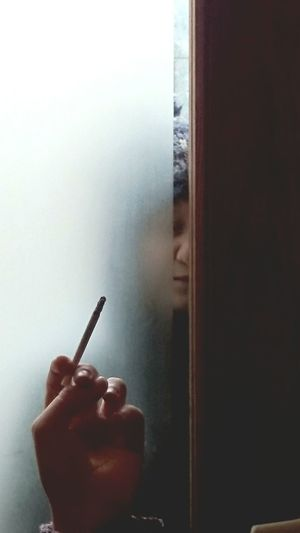 Behind The Door Cigarette In Hand Lowlightphotography XPERIA Xperiaz1compact Xperiaphotography Scenic View