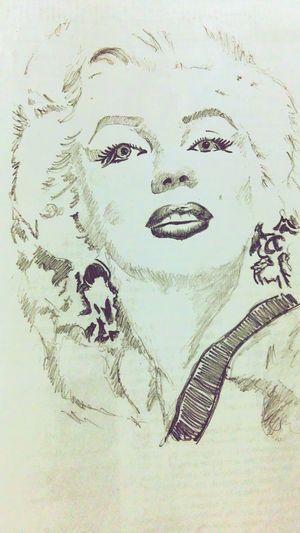 Marilyn Monroe ♡ Pencil Sketch  Celebrities Love Drawing ❤ Edited ☺☺