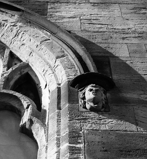 Architecture Architectural Detail Church Church Buildings Carving Stone Stone Carving Gargoyle Falkirk Streetphotography Blackandwhite Black And White Black & White Bnw