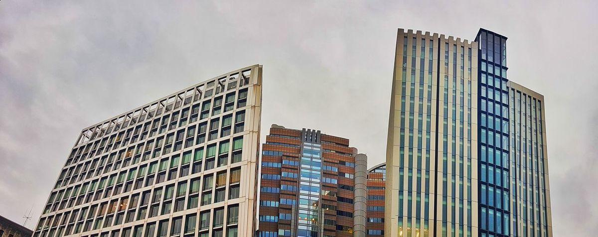 London Architecture Buildings & Sky Modern Glass City Mirror City Now Metropolis Cloudy Skyscraper Skylines Geometry No People