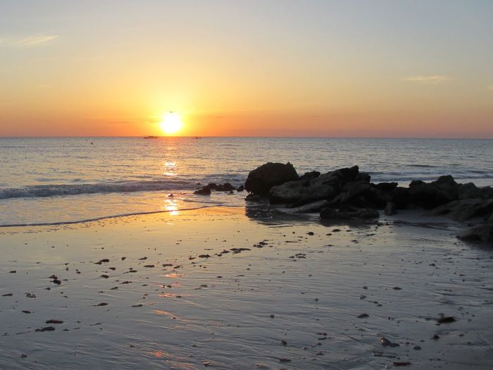 Water Sky Sunset Sea Beauty In Nature Horizon Over Water Beach Tranquil Scene Scenics - Nature Horizon Idyllic Sun Outdoors Nature Tranquility