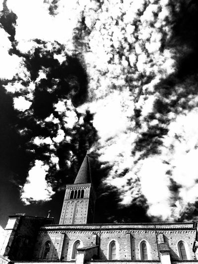 Blackandwhite Black And White Cathedral Piacenza, Italy Church B&w Cloud - Sky Dramatic Sky Light And Shadow Monochrome Photography