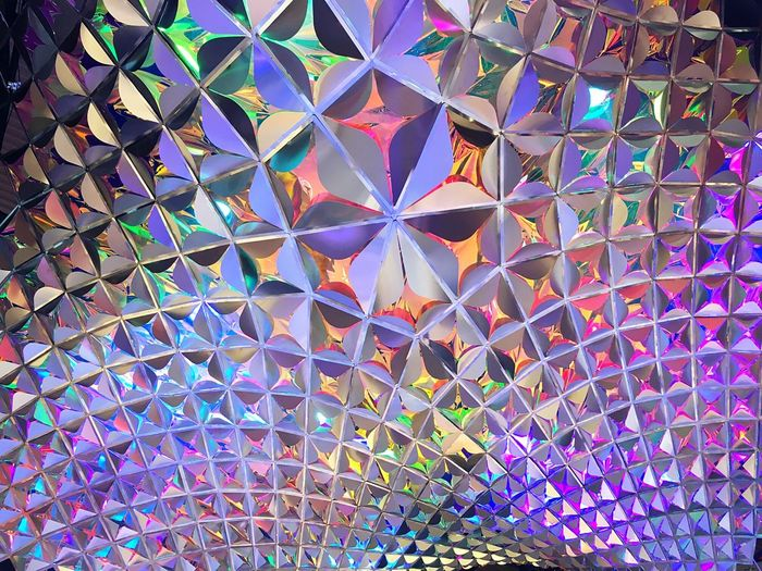 Pattern Low Angle View Multi Colored No People Backgrounds Architecture Indoors  Roof Light Colors Mwc Future Color SPAIN Barcelona