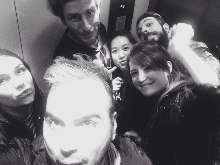 Elevator Selfie Black & White Light Cheekbones