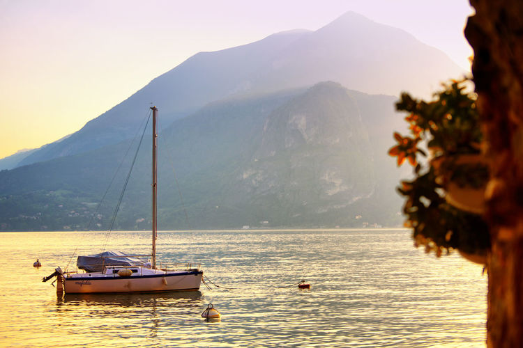Varenna, Italy Beauty In Nature Day Mountain Mountain Range Nature Nautical Vessel No People Outdoors Scenics Sea Sky Tranquil Scene Tranquility Transportation Tree Water