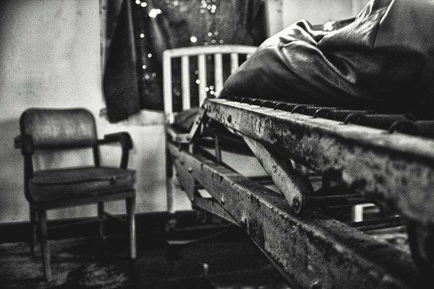 Suffer Well. The Infirmary, Preston Castle, Ione, Ca. Abandoned Black And White Chair Empty Chair Partnersingrime Filthyfeeds Preston Castle Ione Infirmary Blackandwhite