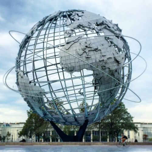 The Unisphere Built Structure Sky Outdoors Architecture No People City Day Ball