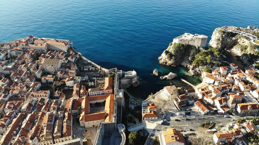 Croatia Dubrovnik Rooftop House Old Town Drone View Europe Built Structure Building Exterior Architecture Heritage Adriatic Sea Tower Crowded Travel Destinations Travel Photography Seascape Ocean Beautiful Place Medieval Mediterranean  Aerial View High Angle View TOWNSCAPE Residential District