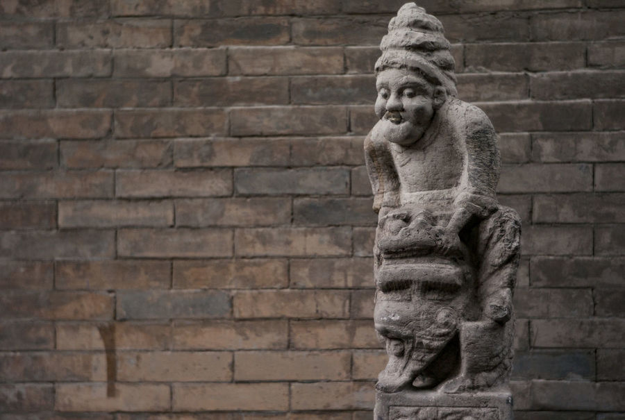 Human Representation Statue Sculpture Outdoors Brick Wall No People Day Building ExteriorChuan Ma Zhuang 🐴🇨🇳 China