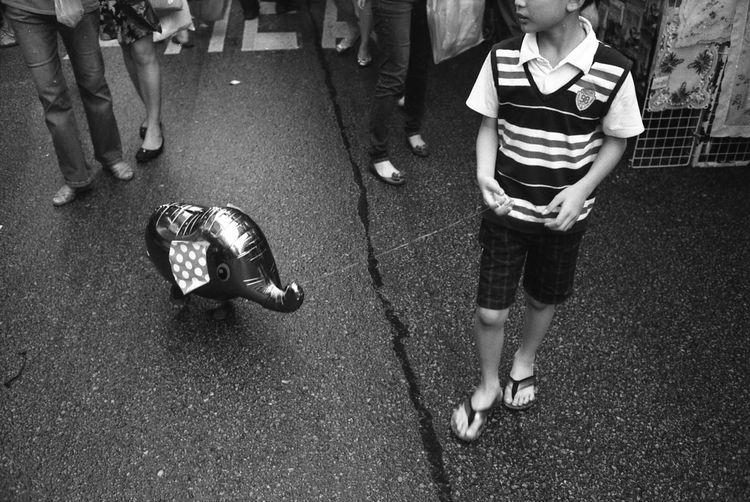 Acros100 Balloon Blackandwhite City Life Elephant Film Fuji Showcase April Streetphotography