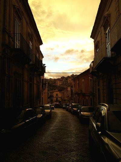 Ragusa Ibla Italy Old Town Sunset Yellow Nofilter