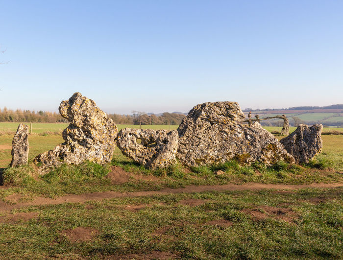 No People Nature Day Rollright Stones Neolithic Stones Outdoors Ancient History Ancient Civilization Non-urban Scene Rock - Object Tranquil Scene Clear Sky Landscape Sky Field Rock