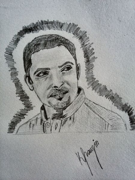 A Friend Of Mine Drawing Art Enjoying Life