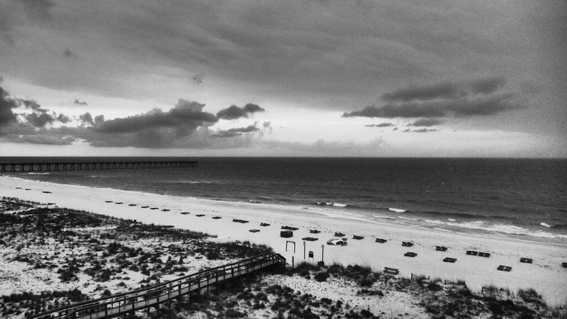 Pensacola Beach. Cloud - Sky Water Sky Nature Beach Sea Tranquility Day Outdoors Scenics Sand Horizon Over Water Travel Destinations No People Beauty In Nature