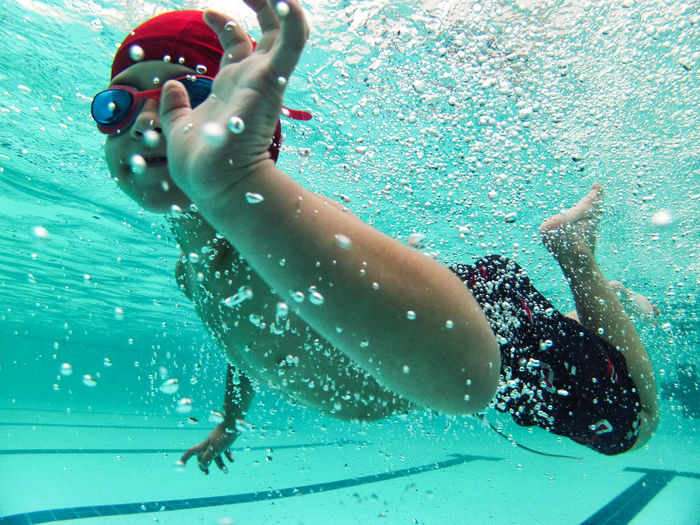 Kid swimming Kids Swimming Gopro Leisure Activity Pool, Sport Swimming Swimming Pool Water