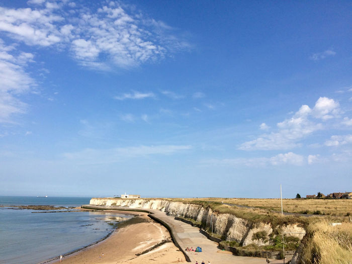 Thanet beach coastline Margate Water Sky Cloud - Sky Land Nature Sea Day Scenics - Nature Beach Beauty In Nature Tranquility Tranquil Scene No People Blue Horizon Outdoors Built Structure Architecture Horizon Over Water