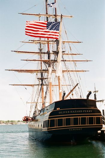 Tall ship taken with a Minolta A5. Nautical Vessel Water Day No People Vintage Camera In Action Minolta A5 Vintage Photo Shoot Outdoors Tall Ship Tall Ships American Flag