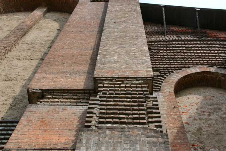 Santa Maria delle Grazie al Naviglio Architectural Detail Architecture Brick Wall Built Structure Church Church Exterior Day Exterior Façade Hystorical Buildings Low Angle View No People Outdoors Sky Tourism Travel Destinations The Graphic City
