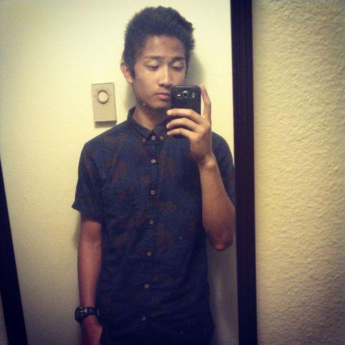 Really diggin this shirt! #cottonon #favoritestore #selfie #ootd #shirt #Casio #quiff #hawaiian #print #instadaily Selfie Shirt Ootd Casio Hawaiian Print Instadaily Quiff Cottonon Favoritestore