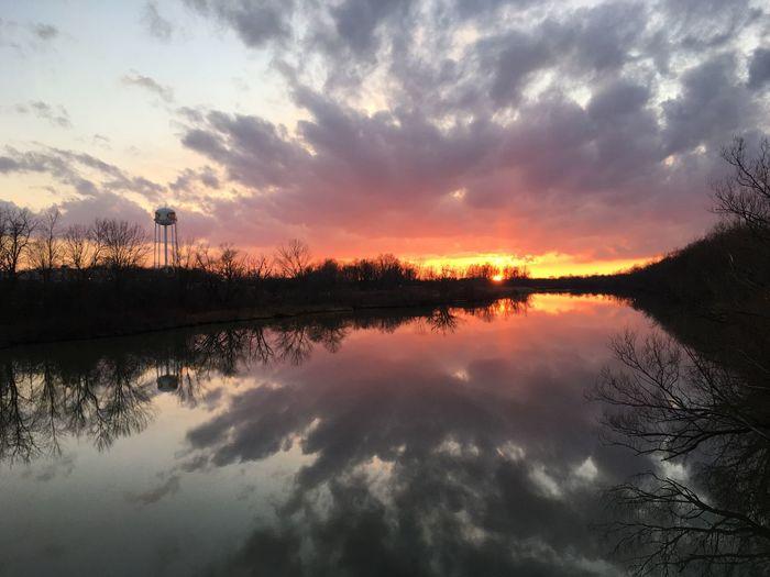 Sunset near a