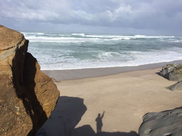 Praia Sea Beach Tranquil Scene Sky Horizon Over Water Solitude Wave Cloud Water
